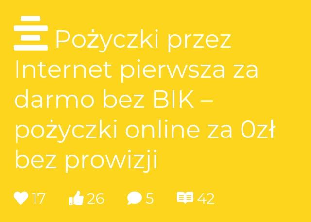 Pożyczki przez Internet pierwsza za darmo bez BIK – pożyczki online za 0zł bez prowizji